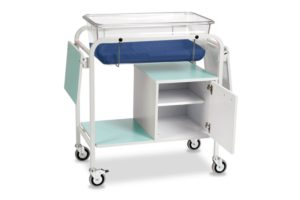 Baby Crib with Small Cupboard