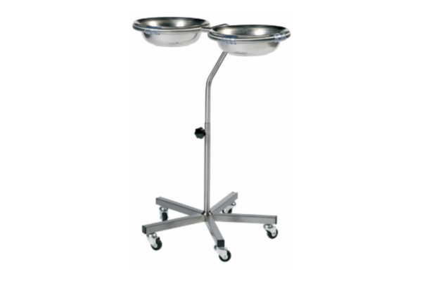 Bowl Stand - Double - Height Adjustable