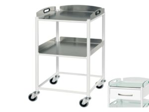 Dressing Trolley - 46cm - 2 Stainless Steel Trays