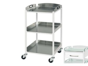 Dressing Trolley - 46cm - 3 Stainless Steel Trays
