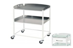 Dressing Trolley - 66cm - 2 Stainless Steel Trays
