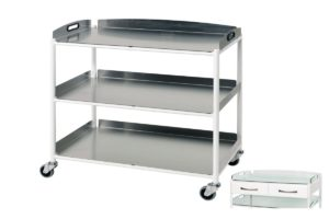Dressing Trolley - 86cm - 3 Stainless Steel Trays