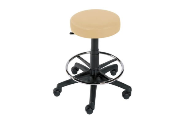 Gas Lift Stool with Footring and 5 Castor Base