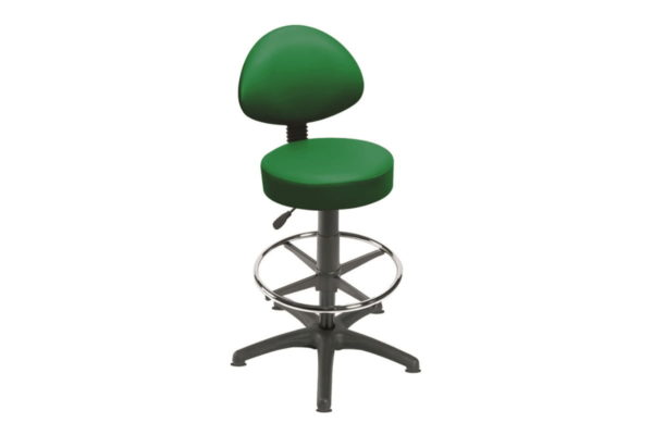 Gas Lift Stool with Footring and 5 Glides