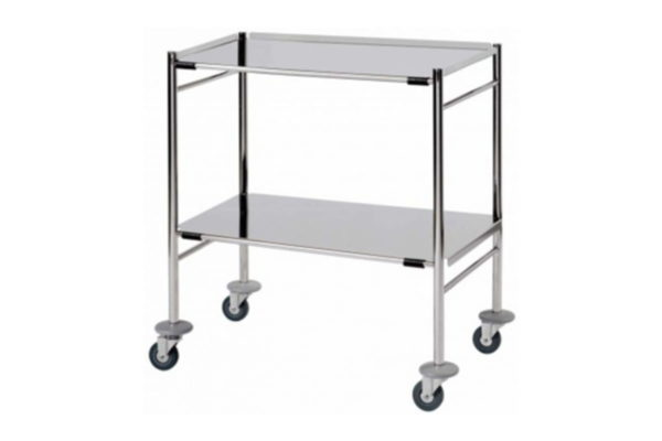 Instrument Trolley - Removable Reversible Shelves
