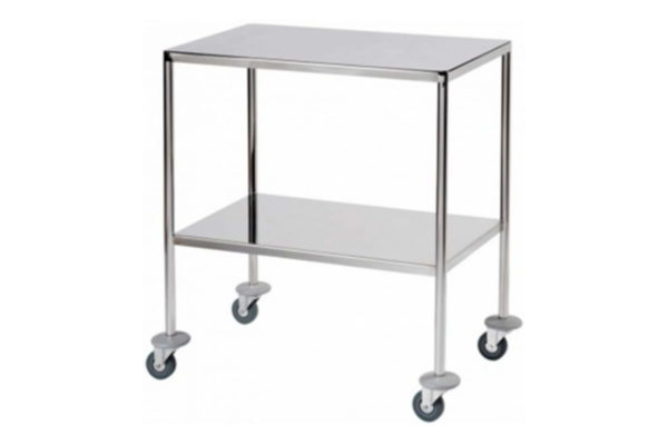 Instrument Trolley with 2 Fixed Shelves