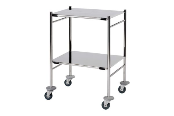 Instrument Trolley with 2 Removable Shelves