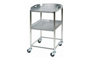 Instrument Trolley with Stainless Steel Trays