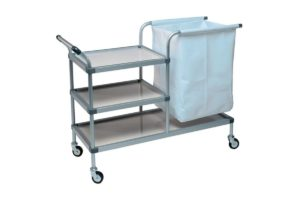 Linen Trolley - 3 Removable Shelves - 1 Linen Bag