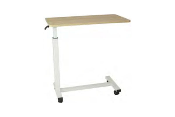 Overbed Table - Adjustable - Wooden with Epoxy Coated Frame