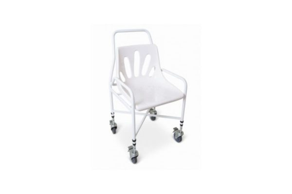 Shower Chair - Height Adjustable Moulded Plastic Seat