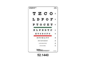 Eye Charts - Snellen Eye Chart With Red/Green bar Visual Acuity Test