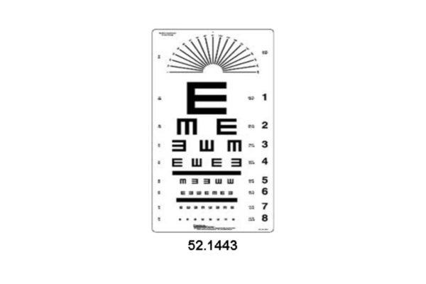 Eye Charts - Tumbling 'E' Chart