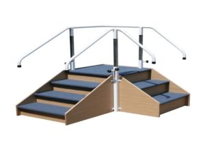 Corner Step - Adjustable Hand Rails